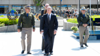 Jerry Brown at memorial ceremony for CHP officers