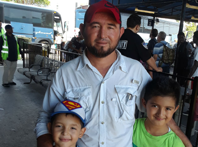 Honduran immigrant and his two sons