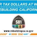 Caltrans Senate Bill 1 sign