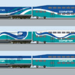 Coaster train color schemes