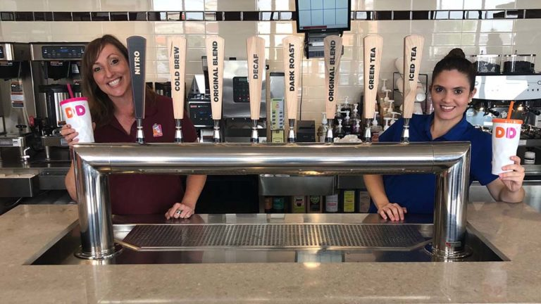 Tap system serves eight cold beverages such as coffees, iced teas, cold brew coffee and nitro infused cold brew coffee.