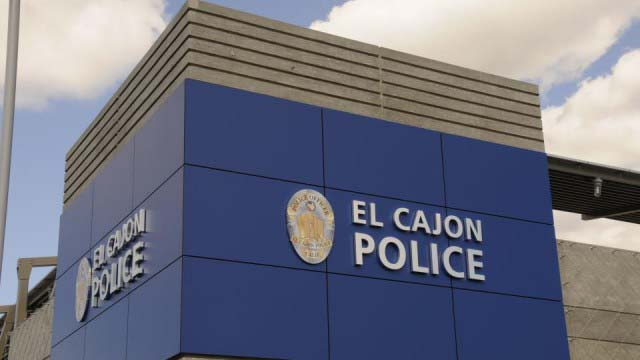 Exterior of El Cajon Police Department headquarters.