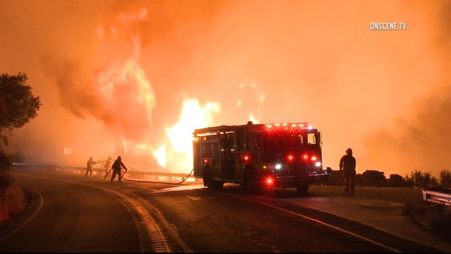 Crews battle Holy Fire