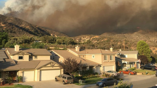 Holy Fire threatens homes