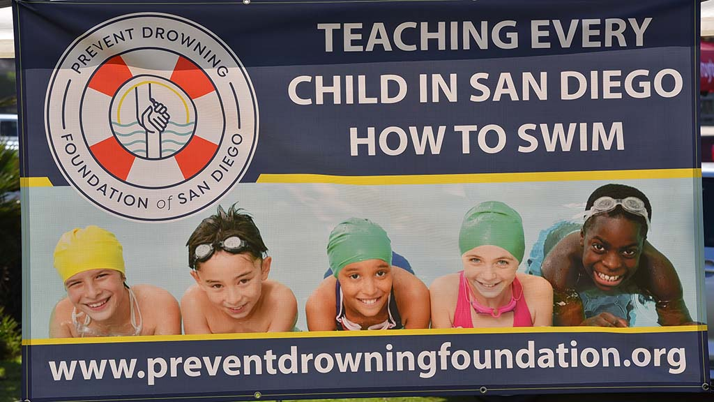The pier jump at Ocean Beach was sponsored by the Prevent Drowning Foundation.