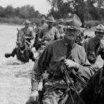 Gen. Pershing crosses the Rio Grande into Mexico in 1916