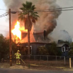 Burning home in Ramona
