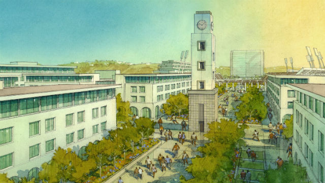 Rendering from San Diego State University Mission Valley site plan