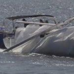 Crashed sailboat