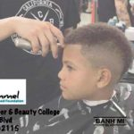 Free haircuts via Larry Himmel Neighborhood Foundation.