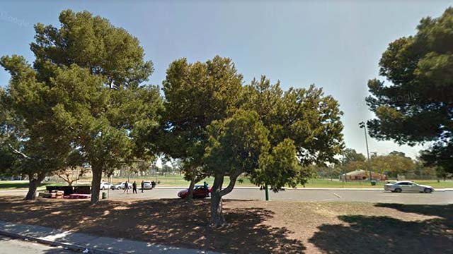 Parking lot at the Willie Henderson Sports Complex. I