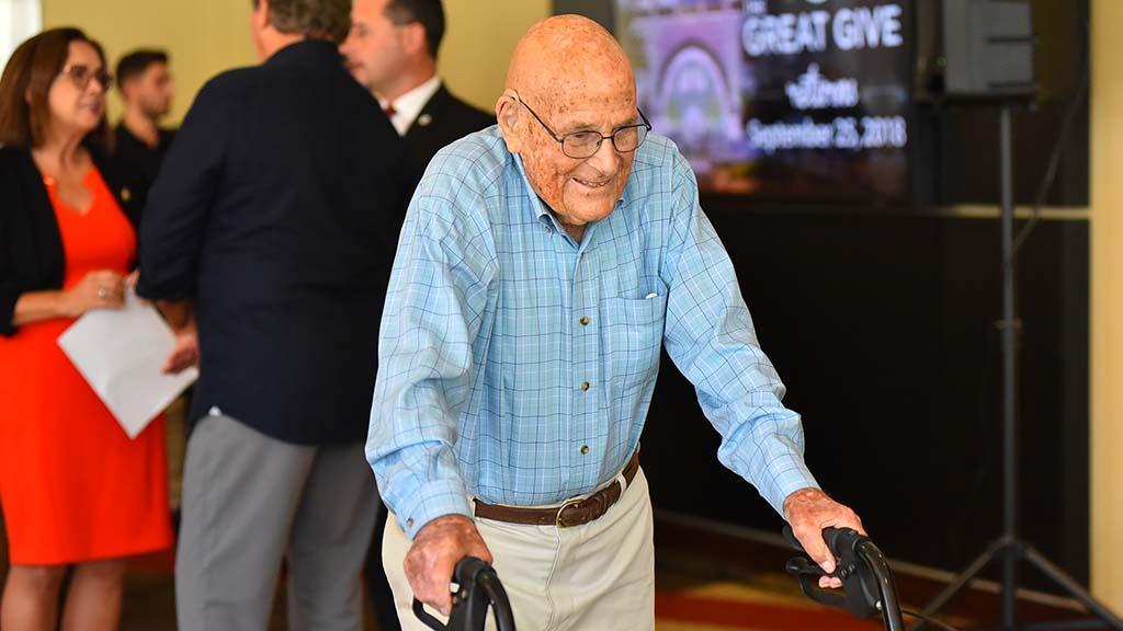 At 105, SDSU alumnus Bill Vogt is still on his feet.
