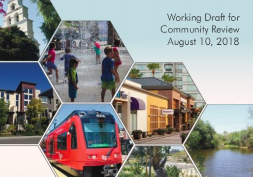Mission Valley Community Plan update for August 2018. (PDF)