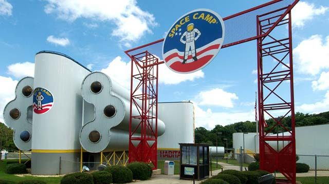 Entrance to Space Camp in Huntsville, Alabama. I