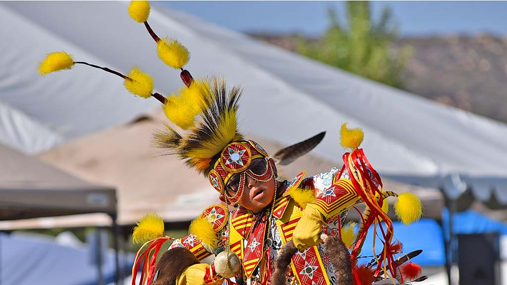 A young boy dances at the 48th annual Barona Powwow.