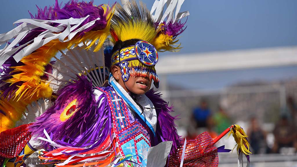 About 70 children competed in the annual powwow.