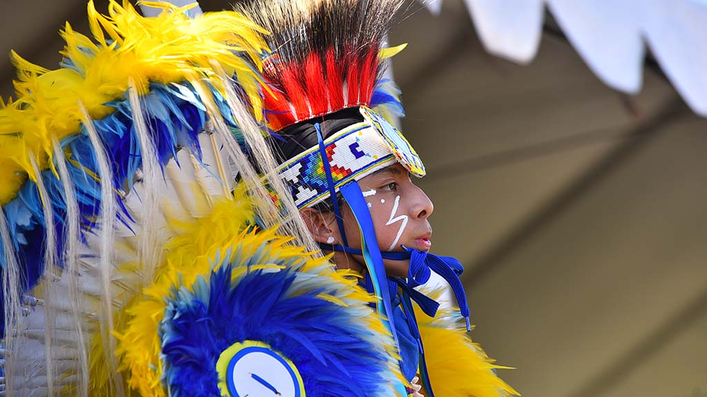 A young man waits to compete at the 48th annual Barona Powwow.