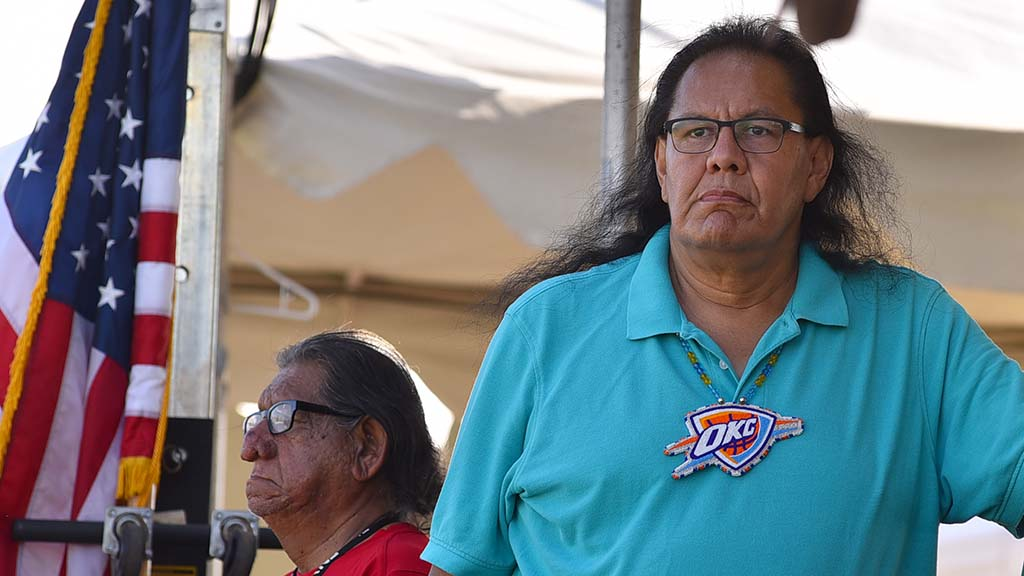 Dennis Zotigh, the head judge, is a museum cultural specialist at the National Museum of the American Indian.