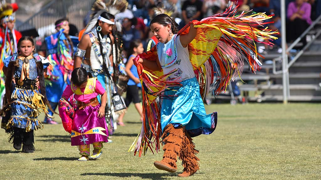 Dancers ranged from toddlers to seniors at the powwow.