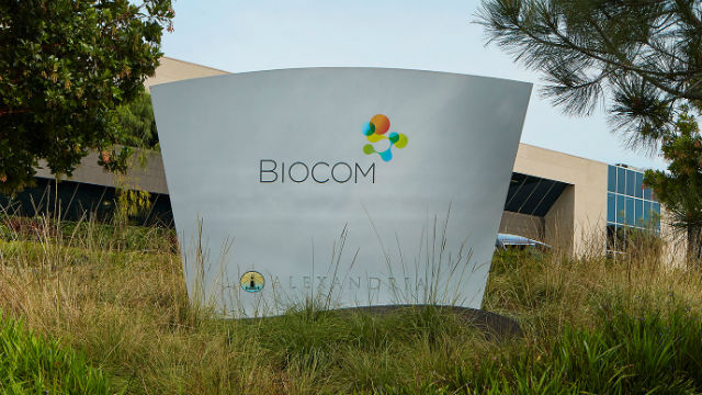 Biocom office sign