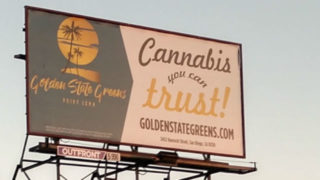 Cannabis billboard