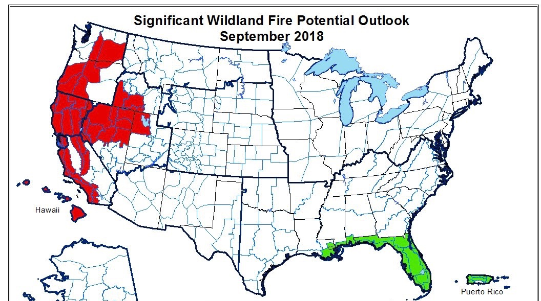 San Diego Fire Map Today.Fall Forecast Much Of Western U S At High Risk For Significant