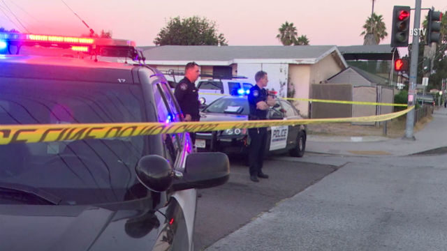 El Cajon Police guard crime scene