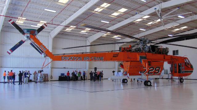 Erickson Aircrane in its hanger