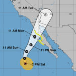 Predicted track of Hurricane Rosa