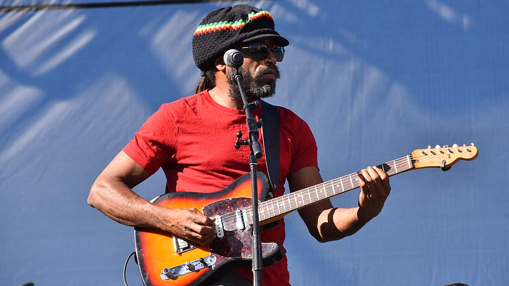 Aston Barrett performs with the Wailers at KAABOO.