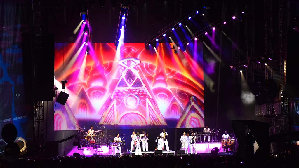 Earth, Wind & Fire gives the closing performance at KAABOO on Saturday.