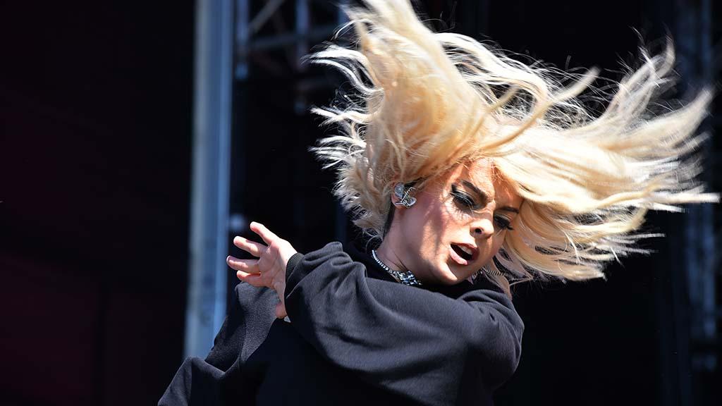 Bebe Rexha rocks her hair at KAABOO Del Mar.
