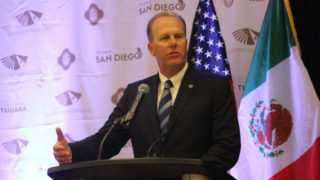 Kevin Faulconer speaks at border city mayors meeting