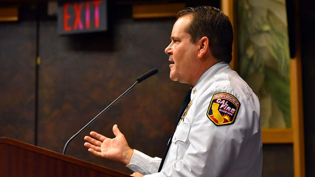 Local Cal Fire Chief Tony Mecham tells LAFCO board