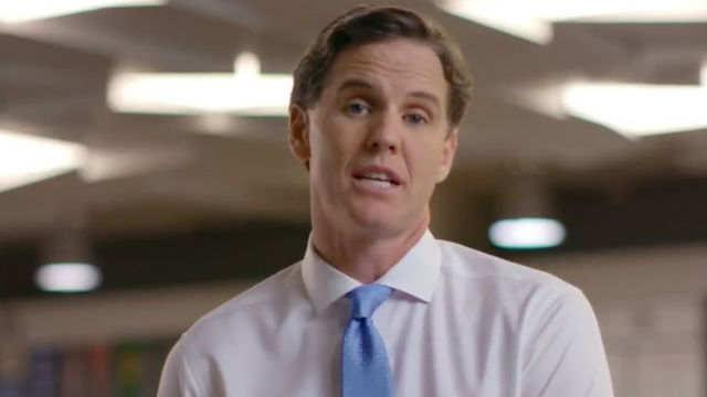 Marshall Tuck in television ad