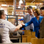 Rep. Nancy Pelosi tours McRoskey Mattress