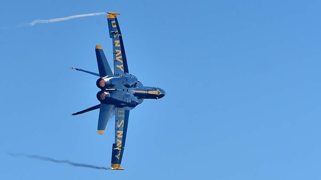 The annual Navy Blue Angels performance was a crowd pleaser at the 2018 Miramar Air Show.