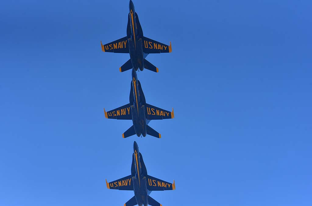 The annual Navy Blue Angels performance was a crowd pleaser at the 2018 Miramar Air Show. Photo by Chris Stone