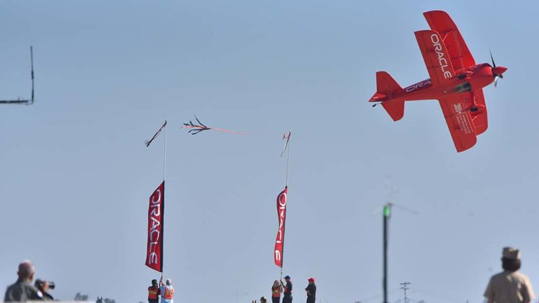 Sean Tucker Aerobatics entertained the crowd at the 2018 Miramar Air Show.