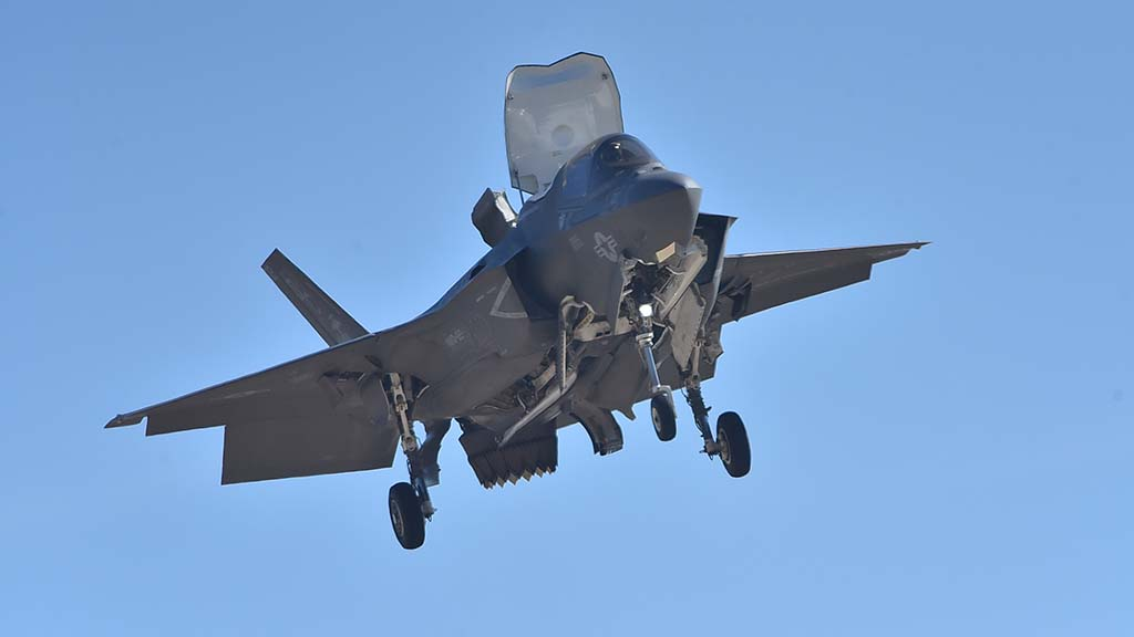 The F-35B Lightning was featured in a demonstration at the 2018 Miramar Air Show.