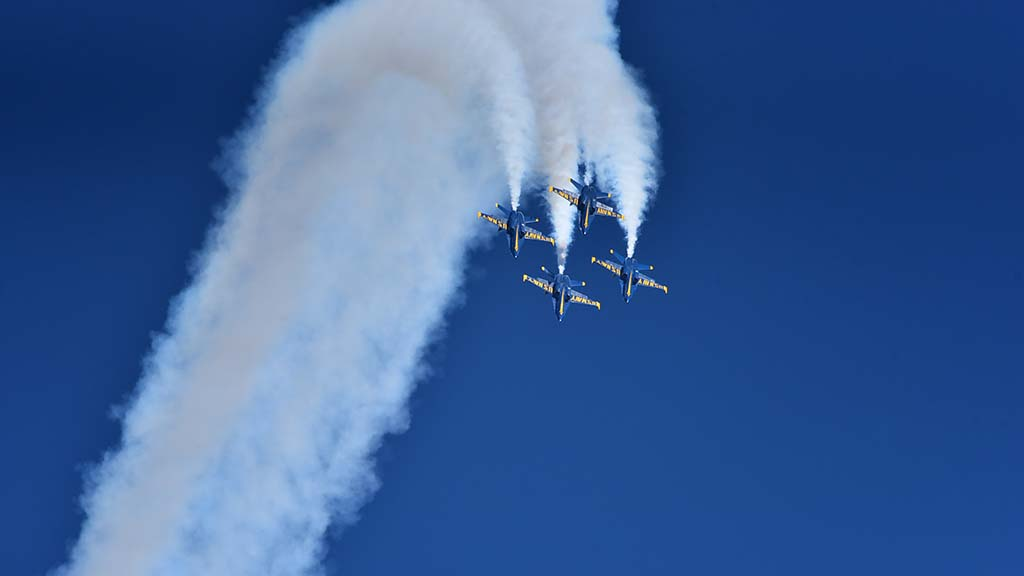 The Blue Angels will perform at the 2018 Miramar Air Show through Sunday.