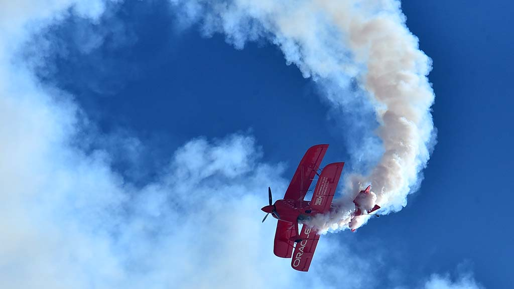 Sean Tucker Aerobatics entertained the crowd at the 2018 Miramar Air Show