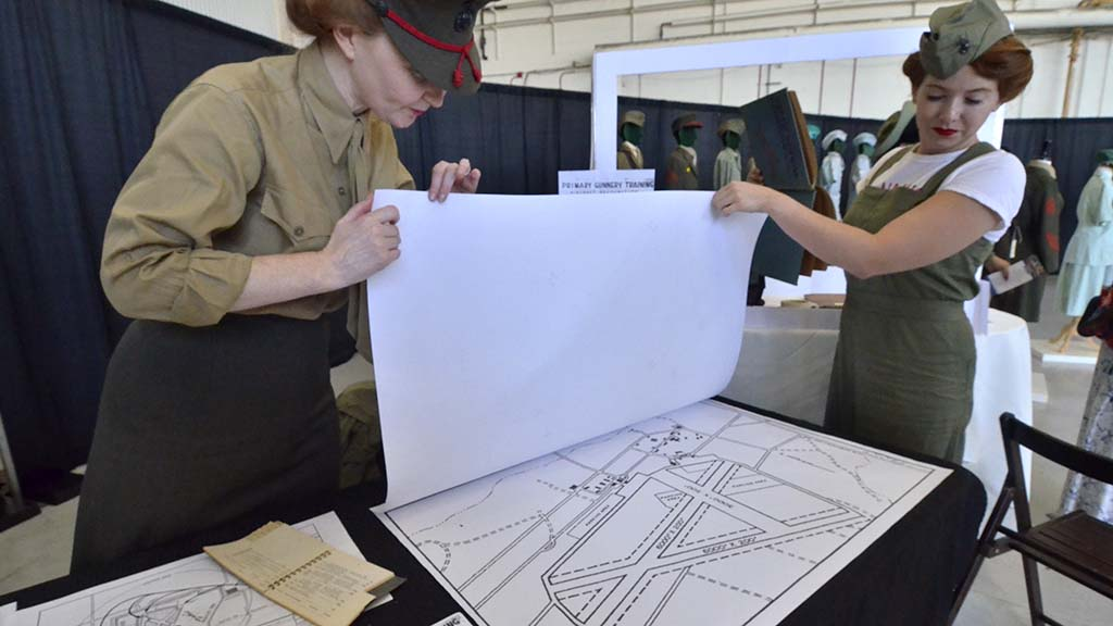 Members of the El Toro Lady Marines talk about the role of air traffic controller that women played.