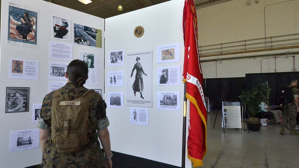 The history of women Marines is celebrated at the 2108 Miramar Air Show.