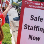 California Nurses Association picket line