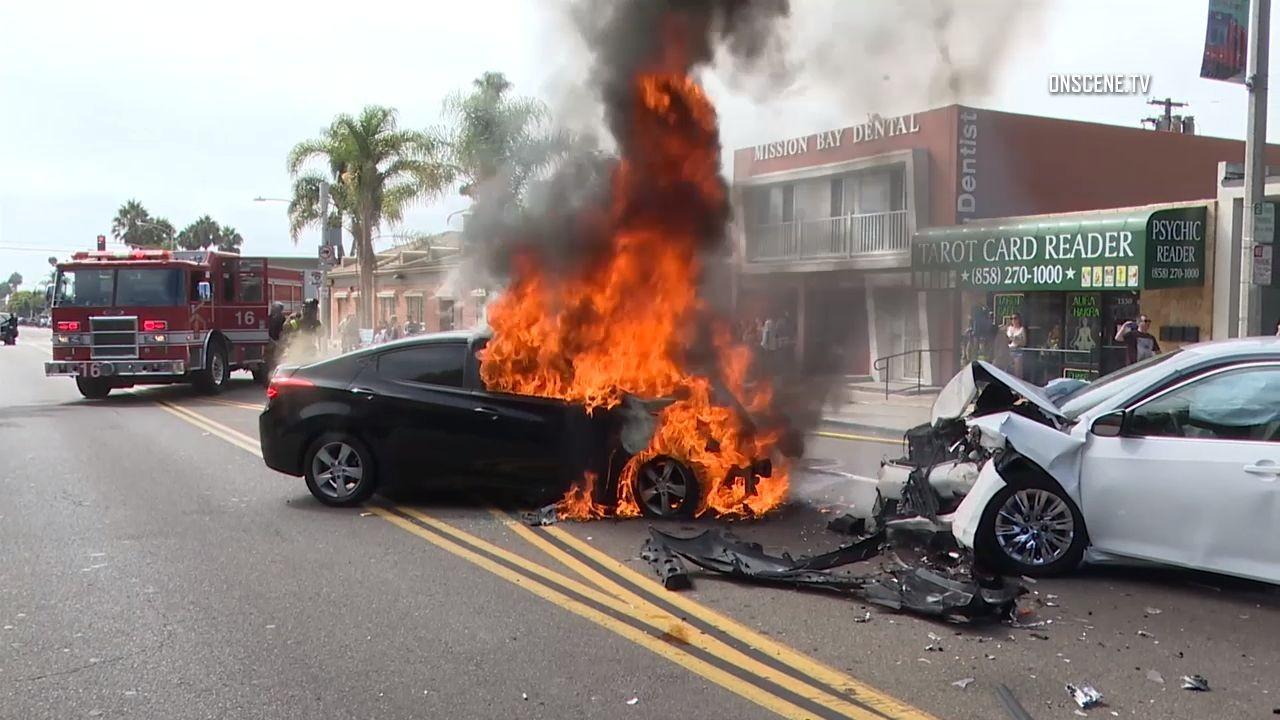Sunday Car Accident San Diego