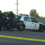 Police cruiser in Skyline crash