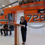 Caroline Winn with Erickson Aircrane