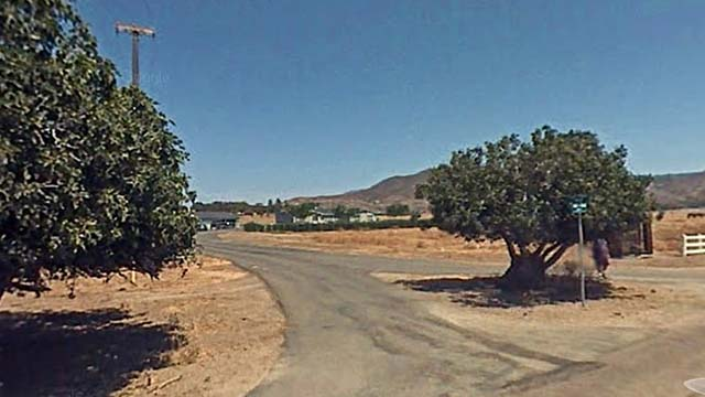 Google Street View image of Fig Tree Way and Viejas Grade Road in Alpine.