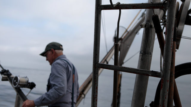 Harris on fishing boat
